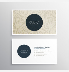 Elegrant business company visiting card template vector