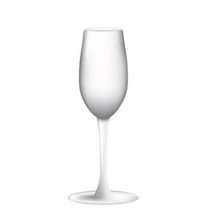 Empty wine glass on white background vector