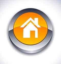 Home 3d button vector