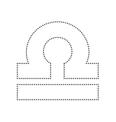 Libra sign black dotted icon vector