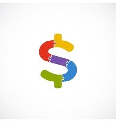 Logo dollar template modern abstract vector
