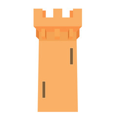 medieval battle tower icon cartoon style vector image