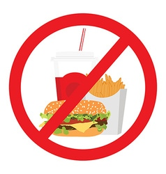 No fast food sign vector image