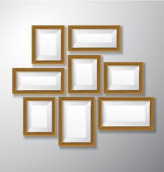 Picture frames wooden variety vector