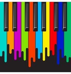 Rainbow piano keyboard vector