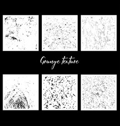six grunge textures vector image vector image