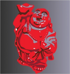 smiling Buddha vector image vector image