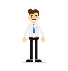smiling lawyer character in flat design vector image