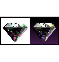 Two of jewelry gems vector image vector image