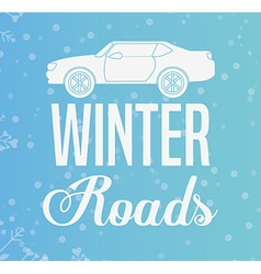 winter roads design vector image