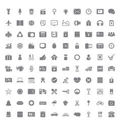 100 Universal icon vector image vector image