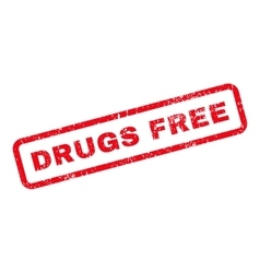 Drugs free text rubber stamp vector