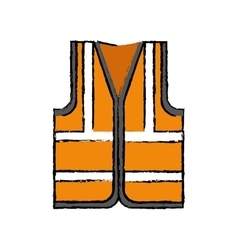 Industrial vest wear vector