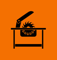 circular saw icon vector image
