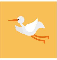 Cute stork flying vector