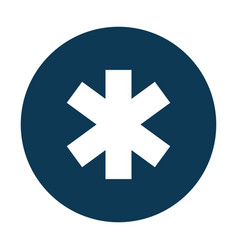 Medical cross caduceus icon vector