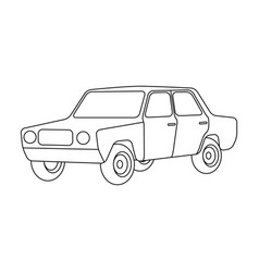 Old carcar single icon in outline style vector