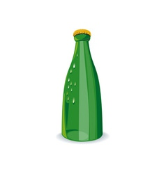 Beer Bottle Green Retro vector image
