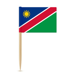 Flag of namibia flag toothpick vector