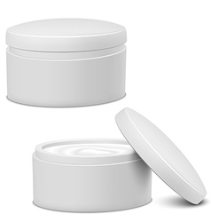 Cream jar vector