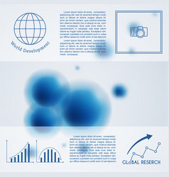 Abstract molecule background template vector