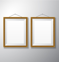 Picture frames wooden vertical vector