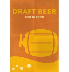 Beer poster draft vector