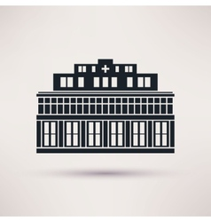 City hospital building in flat style vector