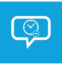 Reduce time message icon vector
