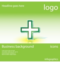 Medical cross business background vector