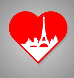 I love paris template vector