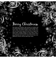Elegant christmas black and white background vector
