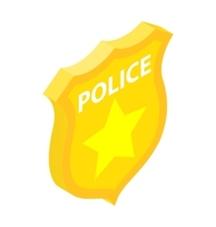 Police badge isometric 3d icon vector
