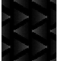 White on black seamlesss pattern vector image