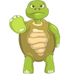 Funny Turtle Stop vector image
