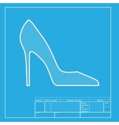 Woman shoe sign white section of icon on vector