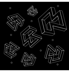 Geometric seamless simple monochrome minimalist vector