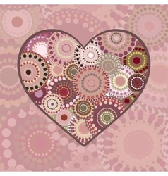 Romance multi colored patterned heart vector