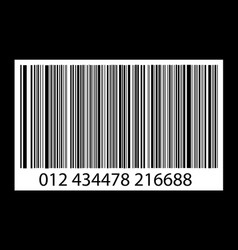 Bar-code on black vector