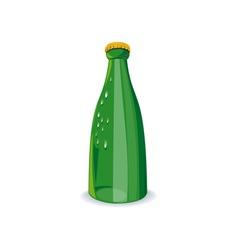 Beer Bottle Green Retro vector image