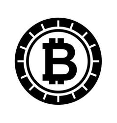 Bitcoin money electronic icon vector