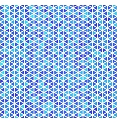Blue triangles on white abstract seamless pattern vector