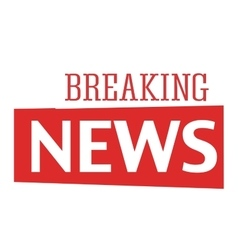 Breaking news text vector image