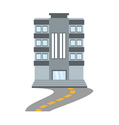 building living place road vector image