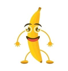cartoon banana tasty organic vector image vector image