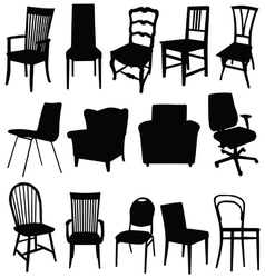 Chair art in black color vector