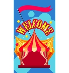 Circus tent show vector
