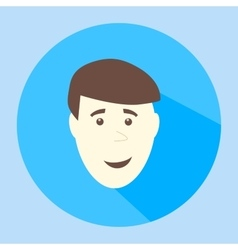 Color smile flat icon man face emotion vector