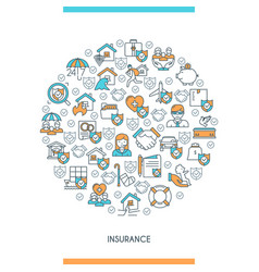 concept on theme insurance vector image vector image