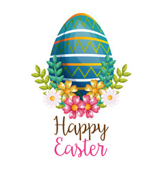 Eggs painted happy easter celebration vector